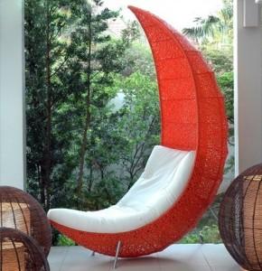 Księżycowy fotel ogrodowy